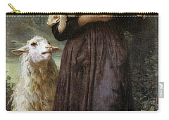 The Newborn Lamb Carry-all Pouch by William Bouguereau