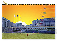The Old And New Yankee Stadiums Side By Side At Sunset Carry-all Pouch by Nishanth Gopinathan