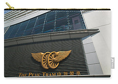 The Peak Tram Terminus Building Sign Carry-all Pouch by Panoramic Images
