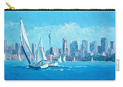 The Regatta Sydney Habour By Jan Matson Carry-all Pouch by Jan Matson