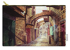 The Road To The Cross  Jerusalem Carry-all Pouch by Graham Braddock
