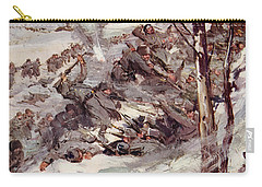 The Russians Fighting Their Way Over The Carpathians Carry-all Pouch by Cyrus Cuneo