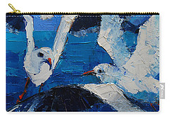 The Seagulls Carry-all Pouch by Mona Edulesco