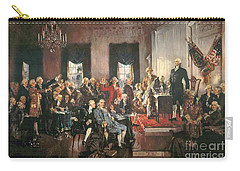 The Signing Of The Constitution Of The United States In 1787 Carry-all Pouch by Howard Chandler Christy