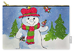 The Snowman Carry-all Pouch by Diane Matthes