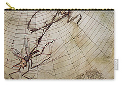 The Spider And The Fly Carry-all Pouch by Arthur Rackham