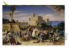 The Taking Of Beirut By The Crusaders Carry-all Pouch by Alexandre Jean Baptiste Hesse