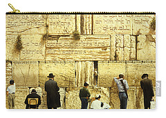 The Western Wall  Jerusalem Carry-all Pouch by Graham Braddock