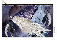 The White Raven Carry-all Pouch by Carol Cavalaris