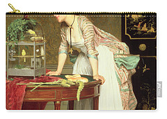 The Yellow Canaries Carry-all Pouch by Joseph Caraud