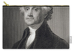 Thomas Jefferson Carry-all Pouch by Gilbert Stuart