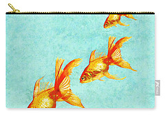 Three Little Fishes Carry-all Pouch by Jane Schnetlage