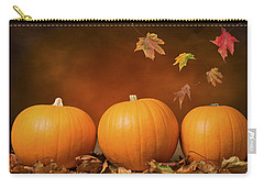 Three Pumpkins Carry-all Pouch by Amanda Elwell