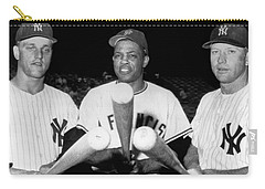 Three Slugging Outfielders Carry-all Pouch by Underwood Archives