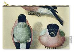 Three Studies Of A Bullfinch Carry-all Pouch by Albrecht Durer