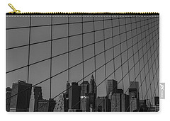 Through Brooklyn Bridge Carry-all Pouch by Chris Fletcher