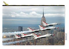 Thunderbirds Over New York City Carry-all Pouch by U S A F