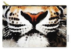 Tiger Art - Burning Bright Carry-all Pouch by Sharon Cummings