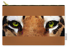 Tiger Art - Hungry Eyes Carry-all Pouch by Sharon Cummings