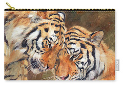 Tiger Love Carry-all Pouch by David Stribbling