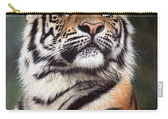 Tiger Painting Carry-all Pouch by Rachel Stribbling