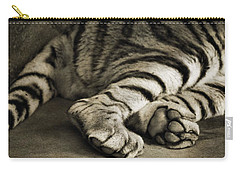 Tiger Paws Carry-all Pouch by Dan Sproul
