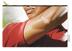 Tiger Woods Artwork Carry-all Pouch by Sheraz A