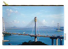 Ting Kaw & Tsing Ma Bridge Hong Kong Carry-all Pouch by Panoramic Images