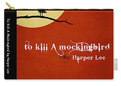 To Kill A Mockingbird Book Cover Movie Poster Art 1 Carry-all Pouch by Nishanth Gopinathan