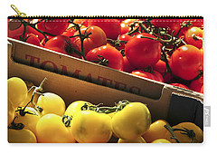 Tomatoes On The Market Carry-all Pouch by Elena Elisseeva