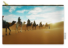 Tourists Riding Camels Carry-all Pouch by Panoramic Images