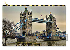 Tower Bridge On The River Thames Carry-all Pouch by Heather Applegate