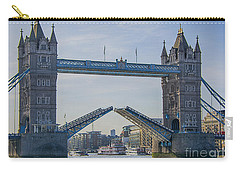 Tower Bridge Opened Carry-all Pouch by Chris Thaxter