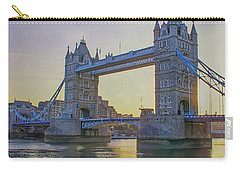 Tower Bridge Sunrise Carry-all Pouch by Chris Thaxter