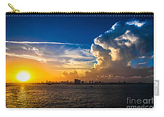 Towering Cumulus West Northwest Carry-all Pouch by Rene Triay Photography