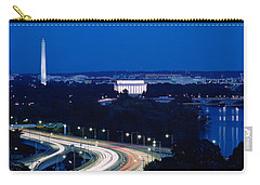 Traffic On The Road, Washington Carry-all Pouch by Panoramic Images