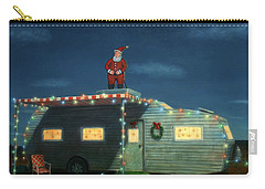 Trailer House Christmas Carry-all Pouch by James W Johnson