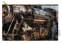 Train - Engine -  Now Boarding Carry-all Pouch by Mike Savad