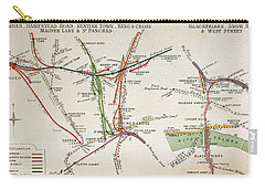 Transport Map Of London Carry-all Pouch by English School