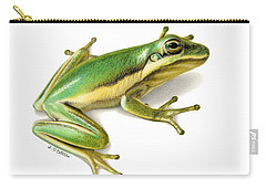 Green Tree Frog Carry-all Pouch by Sarah Batalka