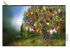 Tree Of Abundance Carry-all Pouch by Carol Cavalaris