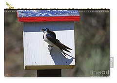 Tree Swallow Home Carry-all Pouch by Mike  Dawson