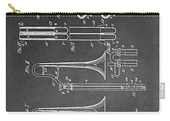 Trombone Design Carry-all Pouch by Dan Sproul