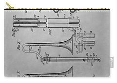 Trombone Patent Drawing Carry-all Pouch by Dan Sproul