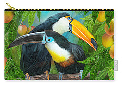 Tropic Spirits - Toucans Carry-all Pouch by Carol Cavalaris