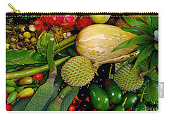 Tropical Fruits Carry-all Pouch by Carey Chen