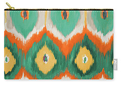 Tropical Ikat II Carry-all Pouch by Patricia Pinto