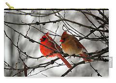 True Love Cardinal Carry-all Pouch by Peggy  Franz