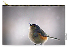 Tufted Titmouse Carry-all Pouch by Cricket Hackmann