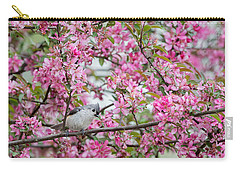 Tufted Titmouse In A Pear Tree Carry-all Pouch by Bill Wakeley